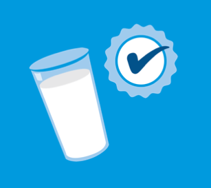 Illustration of a glass of milk
